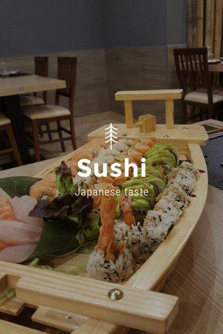 Sushi Japanese taste