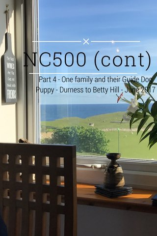 NC500 (cont) Part 4 - One family and their Guide Dog Puppy - Durness to Betty Hill - June 2017