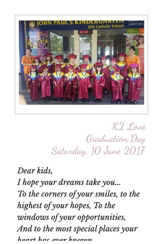 K2 Love Graduation Day Saturday, 10 June 2017
