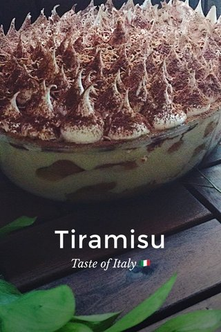 Tiramisu Taste of Italy 🇮🇹