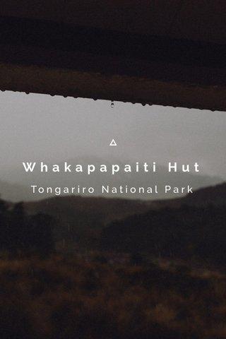 Whakapapaiti Hut Tongariro National Park