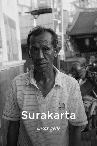 Surakarta pasar gede