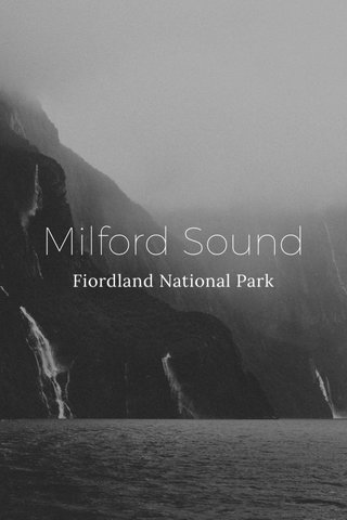 Milford Sound Fiordland National Park