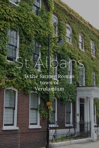 St Albans Is the former Roman town of Verulamium