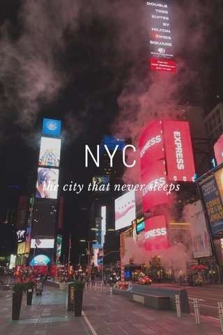 NYC the city that never sleeps