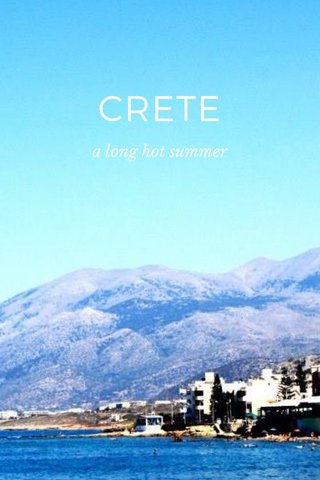 CRETE a long hot summer