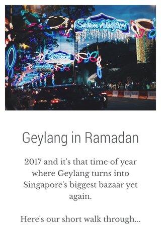 Geylang in Ramadan