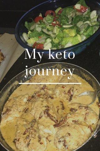 My keto journey