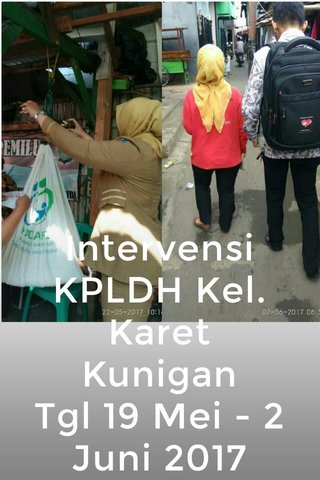 Intervensi KPLDH Kel. Karet Kunigan Tgl 19 Mei - 2 Juni 2017