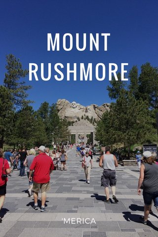 MOUNT RUSHMORE 'MERICA