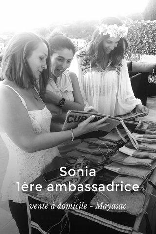Sonia 1ère ambassadrice vente à domicile - Mayasac