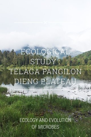 ECOLOGICAL STUDY : TELAGA PANGILON DIENG PLATEAU ECOLOGY AND EVOLUTION OF MICROBES