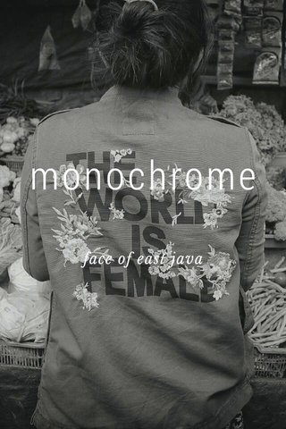 monochrome face of east java