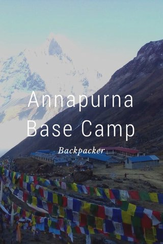 Annapurna Base Camp Backpacker