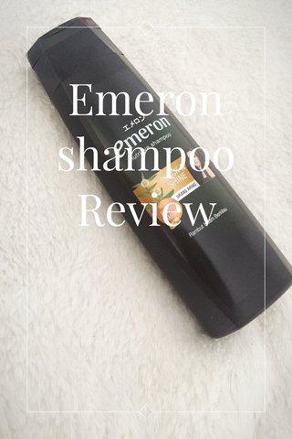 Emeron shampoo Review