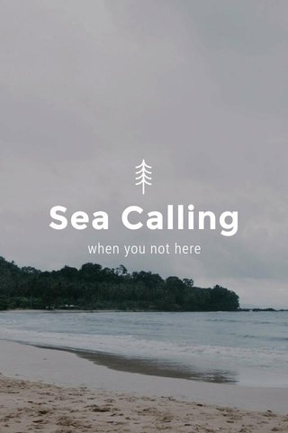 Sea Calling when you not here