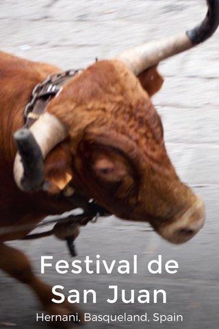Festival de San Juan Hernani, Basqueland, Spain