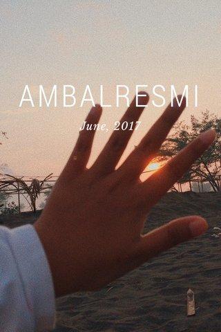 AMBALRESMI June, 2017