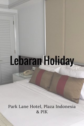 Lebaran Holiday Park Lane Hotel, Plaza Indonesia & PIK