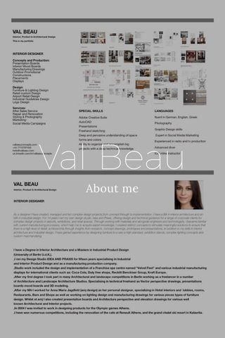 Val Beau About me