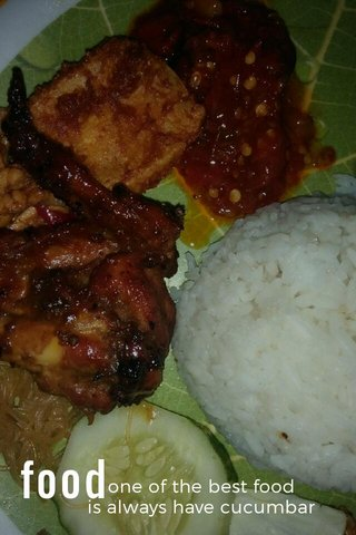 food one of the best food is always have cucumbar