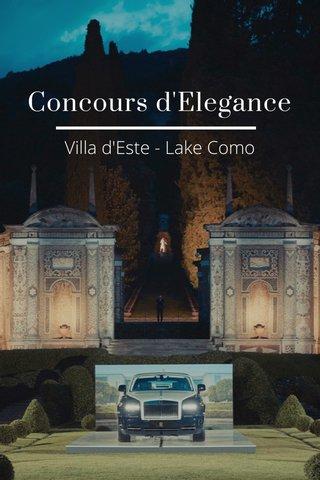 Concours d'Elegance Villa d'Este - Lake Como