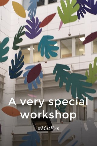 A very special workshop #MatExp