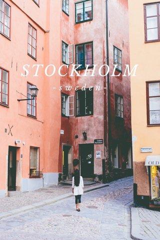 STOCKHOLM -sweden-
