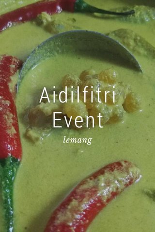 Aidilfitri Event lemang