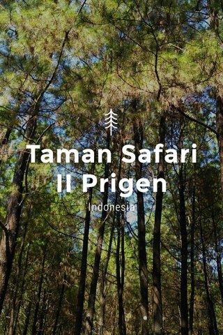 Taman Safari II Prigen Indonesia