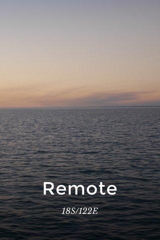 Remote 18S/122E