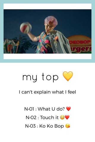 my top 💛