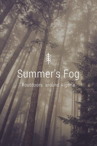 Summer's Fog #outdoors around Algeria