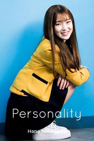 Personality Hana Nakagawa