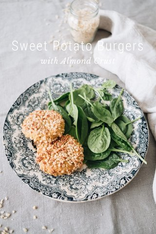 Sweet Potato Burgers with Almond Crust