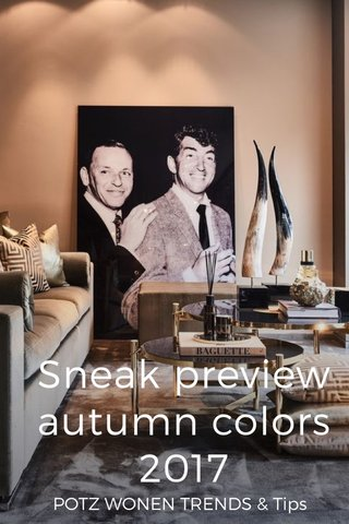 Sneak preview autumn colors 2017 POTZ WONEN TRENDS & Tips