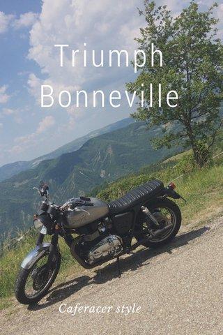 Triumph Bonneville Caferacer style