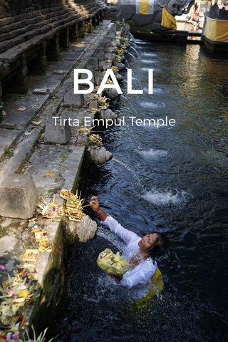 BALI Tirta Empul Temple