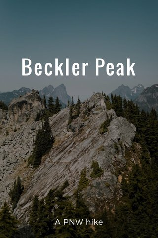 Beckler Peak A PNW hike