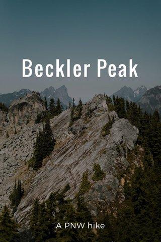 Beckler Peak A PNW hike