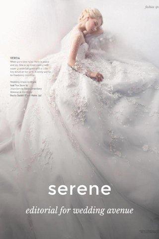 serene editorial for wedding avenue