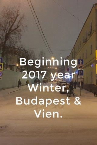 Beginning 2017 year Winter, Budapest & Vien.