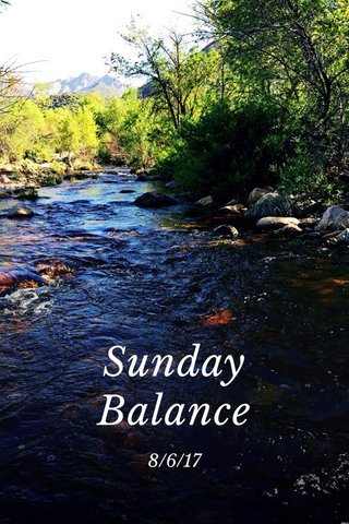 Sunday Balance 8/6/17