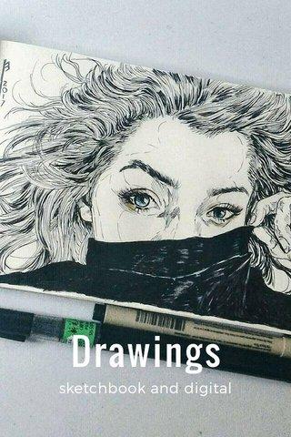 Drawings sketchbook and digital