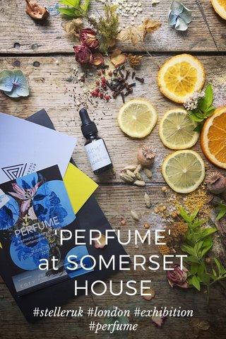 'PERFUME' at SOMERSET HOUSE #stelleruk #london #exhibition #perfume