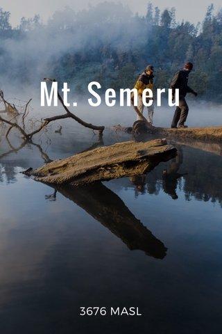 Mt. Semeru 3676 MASL