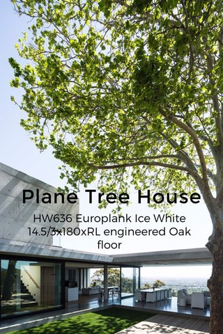 Plane Tree House HW636 Europlank Ice White 14.5/3x180xRL engineered Oak floor