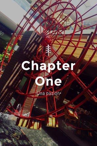 Chapter One •Una pasión•