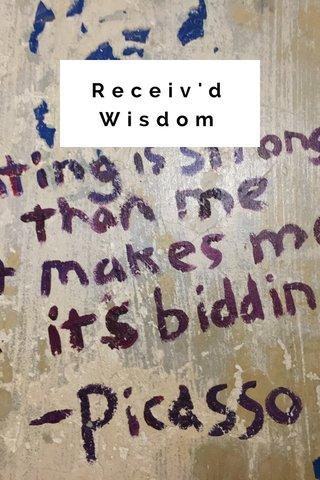 Receiv'd Wisdom