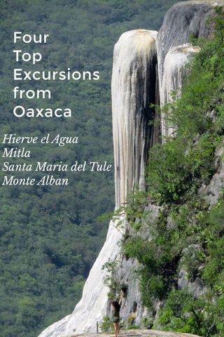Four Top Excursions from Oaxaca Hierve el Agua Mitla Santa Maria del Tule Monte Alban
